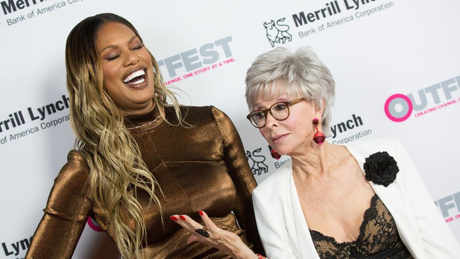 .@TheRitaMoreno and @Lavernecox honored at Outfest Legacy Awards