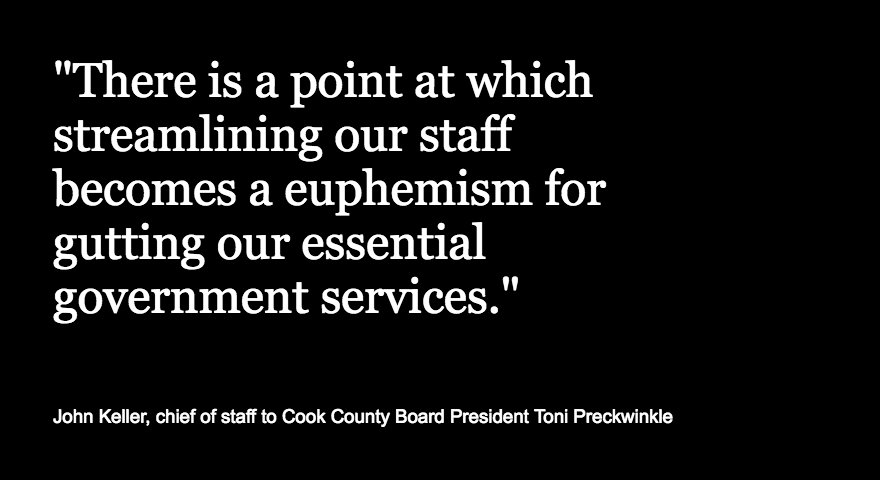 Faced with having to make $200 million in spending cuts after repealing the pop tax, Cook County officials warned of consequences and pointed fingers at each other https://t.co/lctz2RfwLe https://t.co/rYsHWGE7E4