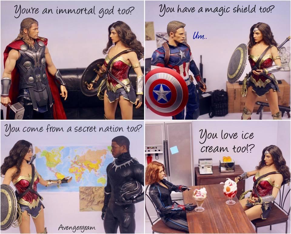 RT @SuperheroSteel: Diana relates to everyone! 😊 #WonderWoman https://t.co/PkDRAW1GZF