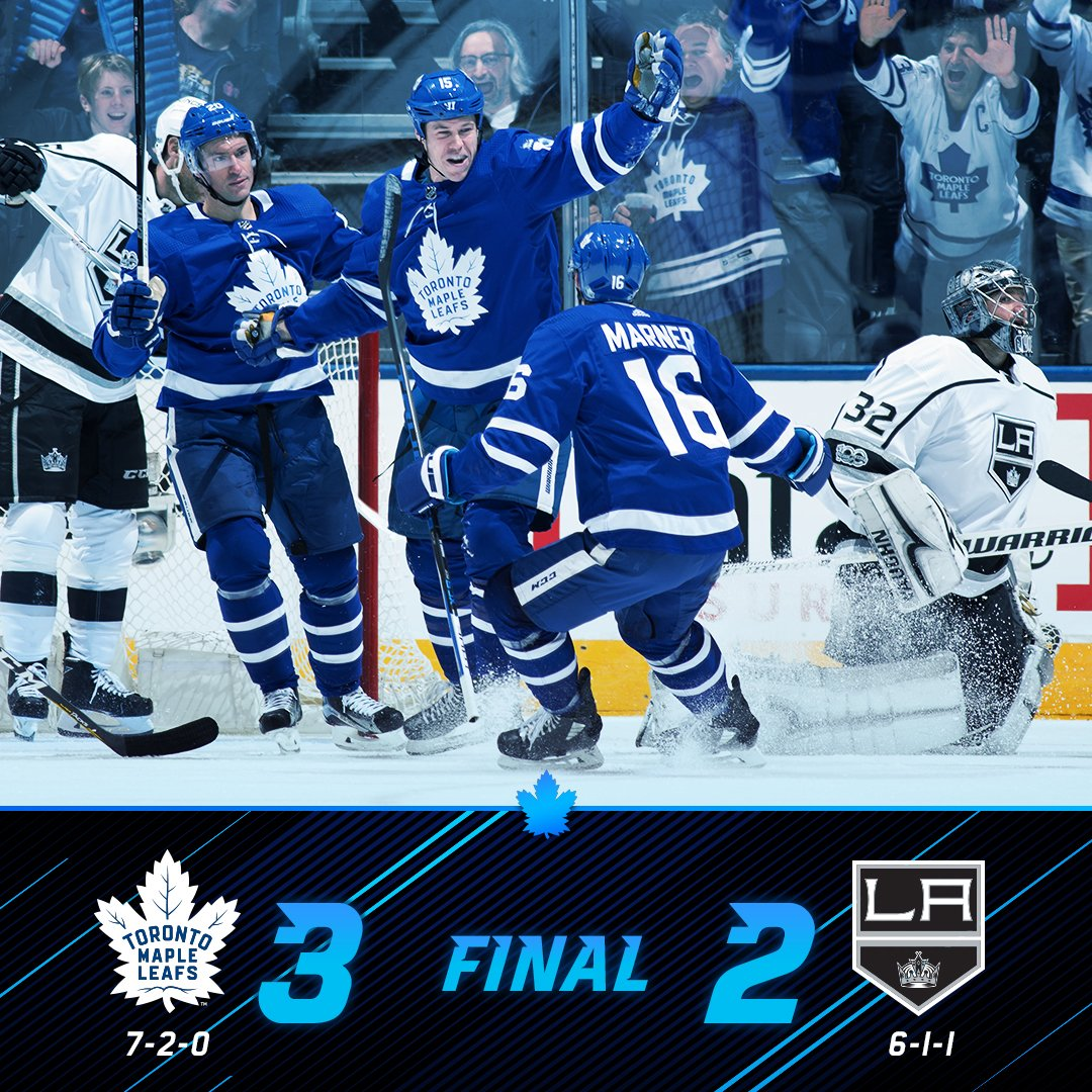 RT @MapleLeafs: Leafs come up big in the close battle.  #TMLTalk https://t.co/0EkMYmFNQF