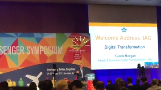 Glenn Morgan at IAG Group is on stage at #IATAWPS, talking about the importance of #APIs for airlines https://t.co/rM6MZ82WyV