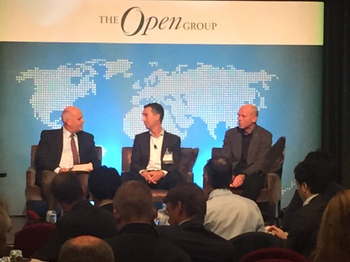 #ogAMS panel discussion with Lourens Riemens, EA, Wim Scholtes, Program Manager & Steve Nunn, CEO TheOpenGroup https://t.co/3Y58o0sQLN