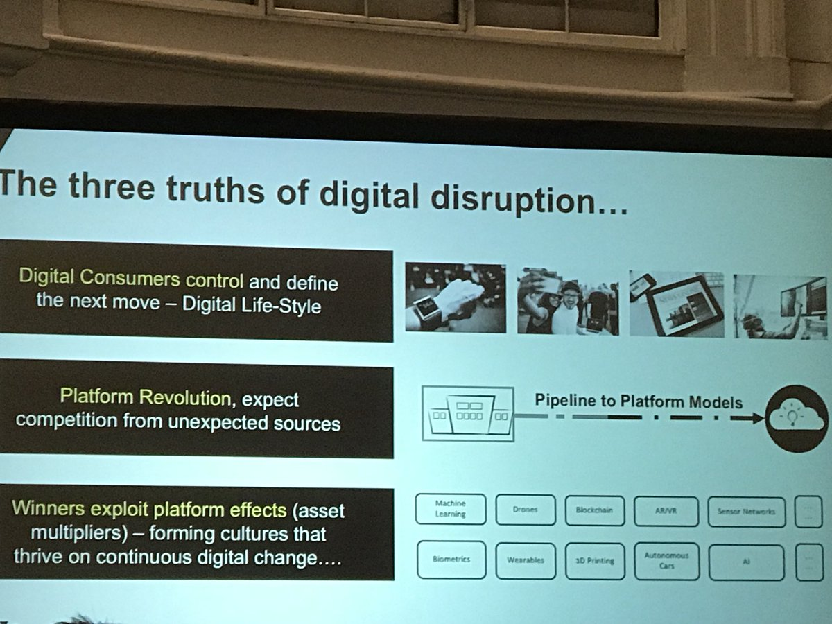 Digital disruption truths. Stop focusing on resources and start focusing on platforms and its effects #ogAMS https://t.co/iU7GUU1FhX