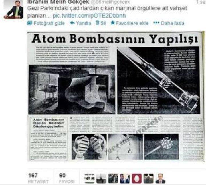 RT @EMELAYDIN81: #MelihGökçekDiyince çadırlarda yapılan atom bombasını unutmak mümkün mü 😂 @nihatsirdar https://t.co/kKlVPnB6rN