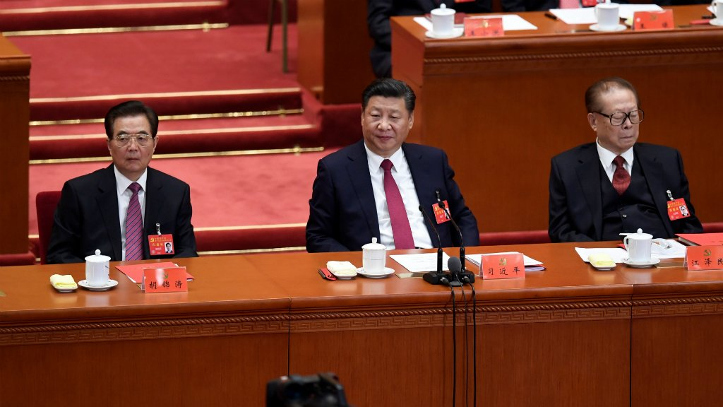 China Communist Party adds Xi's name to constitution
