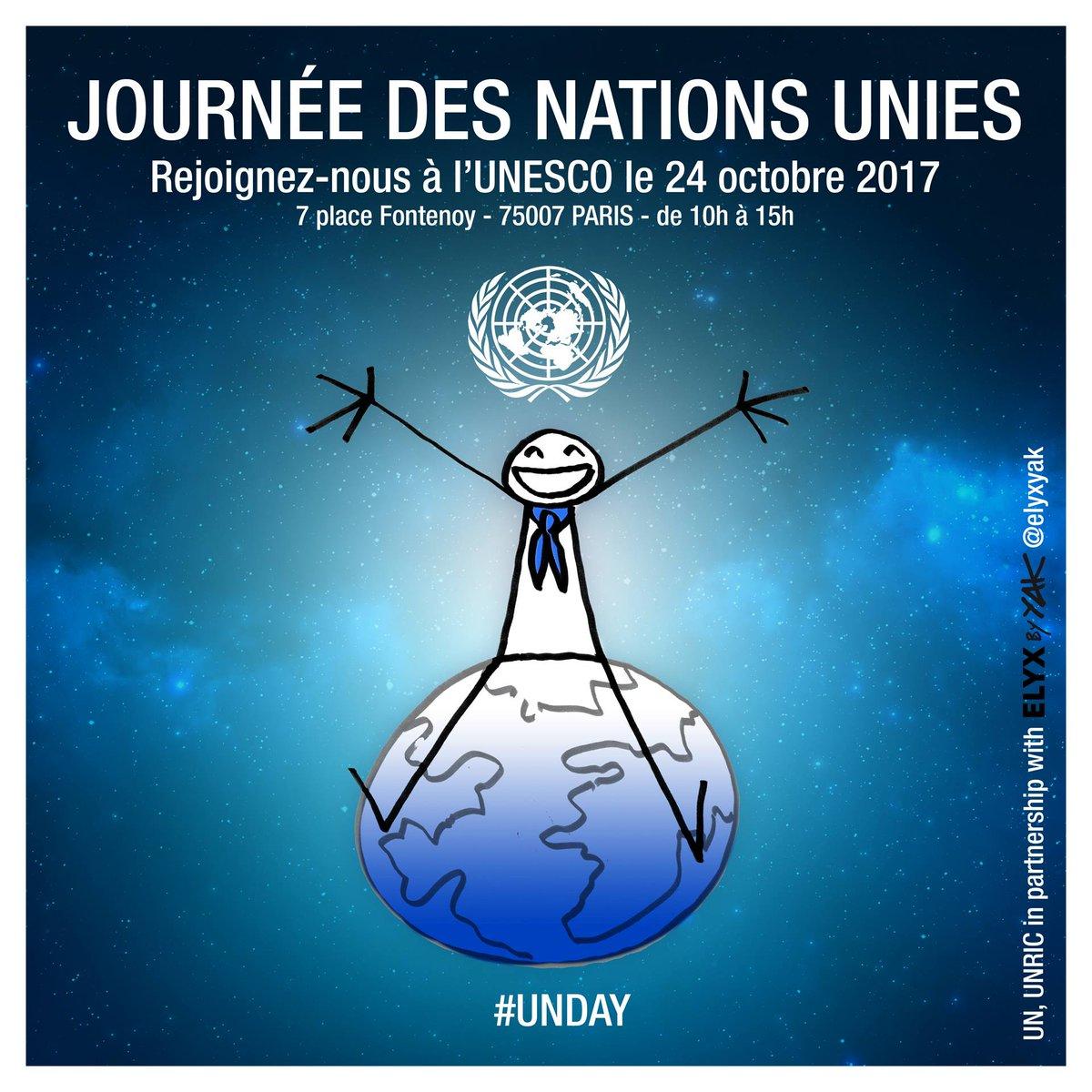 C'est aujourd'hui ! Rejoignez-nous pour célébrer la Journée des @ONU_fr à @UNESCO_fr ✍️ https://t.co/uocxu0SxUe