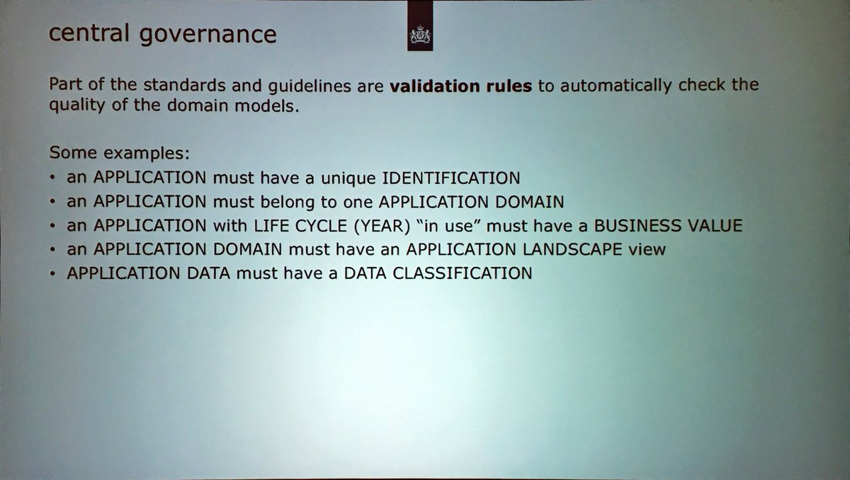 ArchiMate_r: Lourens Riemens: Automatic validation used with modeling, and used with scored compliance #ogAMS https://t.co/V2gnwlXKvw
