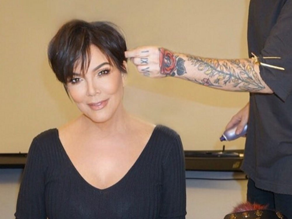 Kim Kardashian Shows off Kris Jenner's Seriously Dramatic Hairover