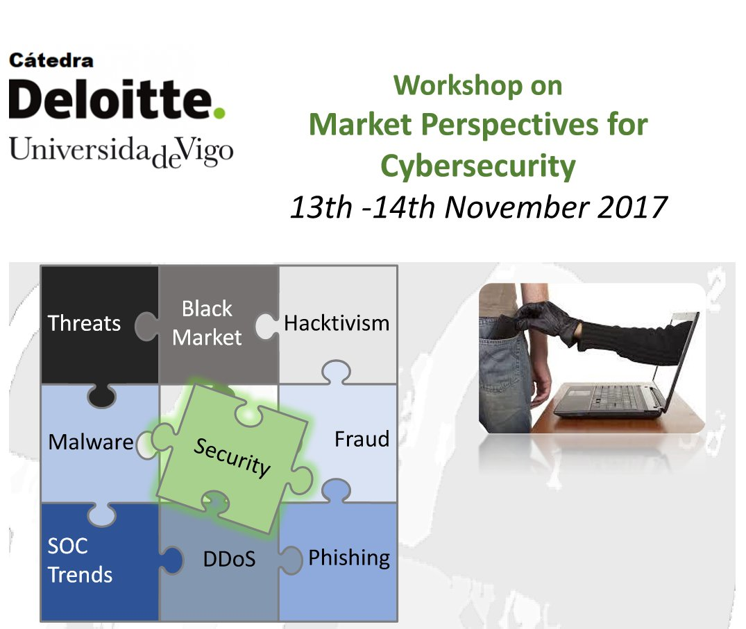 test Twitter Media - Workshop on Market Perspectives for Cybersecurity 13th-14th November  #catedradeloitte #uvigo #ciberseguridad https://t.co/MhYWlx4jwt https://t.co/szUMx1XTbH
