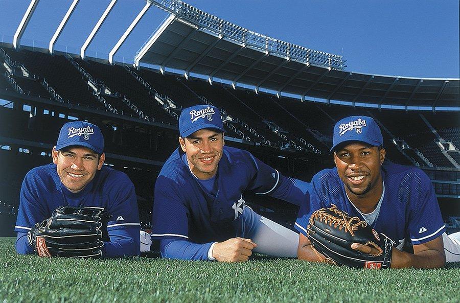 The future of the @Royals (back in 2000): Johnny Damon, Carlos Beltran, and Jermaine Dye https://t.co/PT7g19JSyL