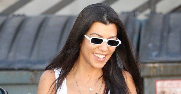 Kourtney Kardashian shut down a rumor that she's pregnant with her fourth child:
