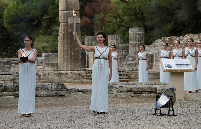 Olympics: Pyeongchang 2018 Games torch lit in ancient Olympia