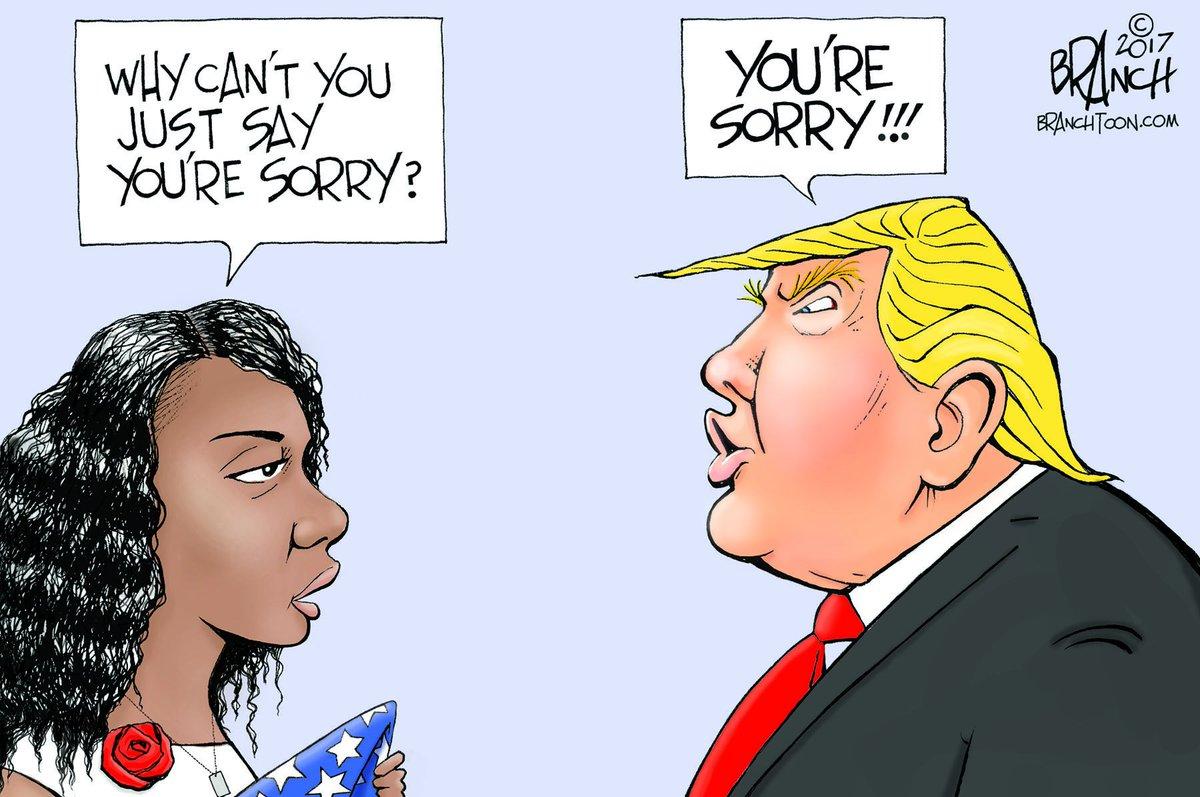 Sorry President #trump #MyeshiaJohnson #LaDavidJohnson #politicalcartoons https://t.co/PyVksfqxlz