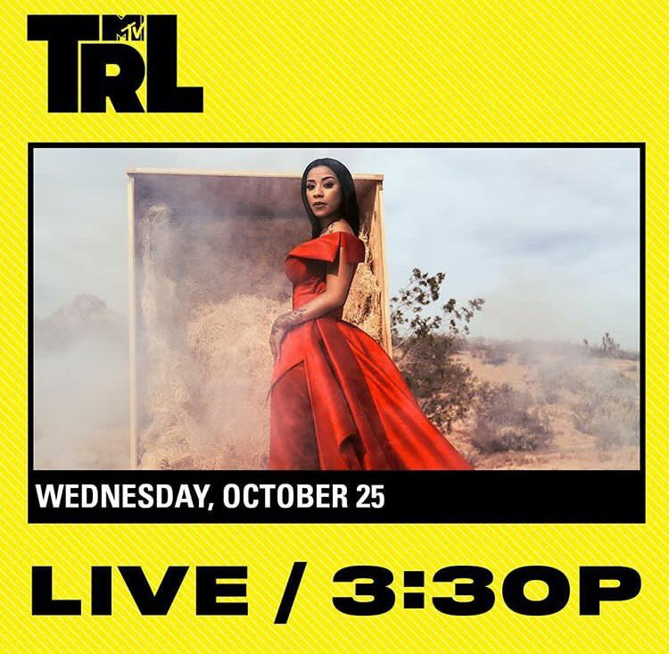 Catch @KeyshiaCole live on @TRL tomorrow! https://t.co/Tlq6VXkLEB