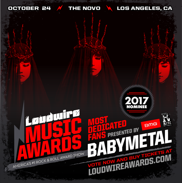 Thank you #LoudwireAwards @Loudwire Most Dedicated Fanbase Award Pres. by @BMG + @RiseRecords !! ...