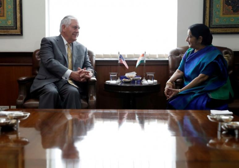 Tillerson to meet India's Modi amid China's rising influence in Asia