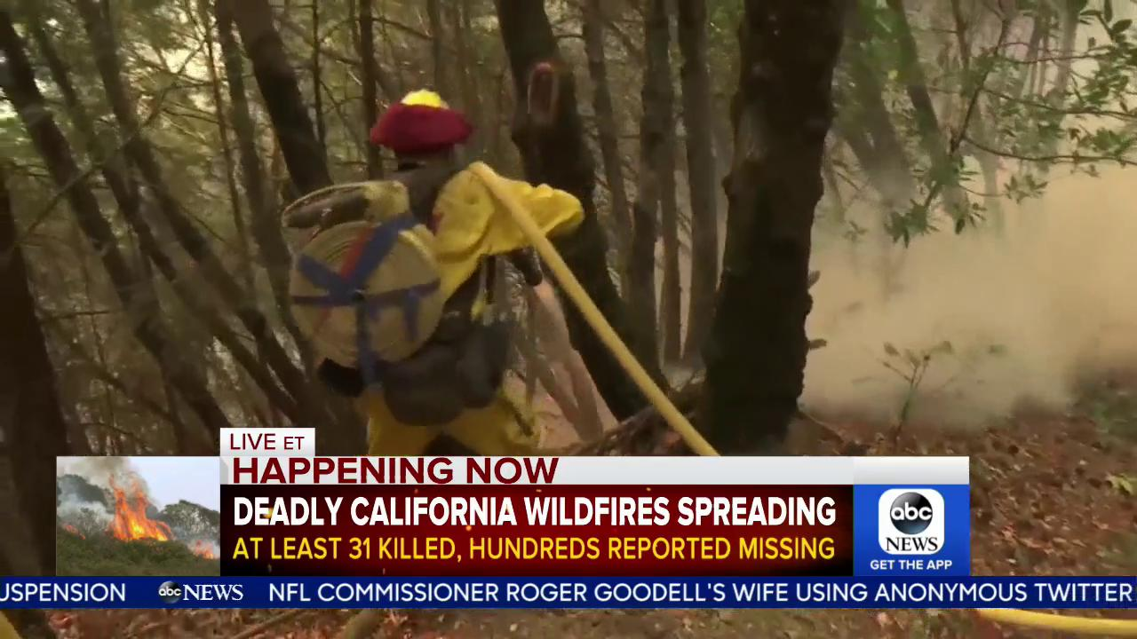 WATCH: Deadly California wildfires spreading; at least 31 killed, hundreds reported missing: https://t.co/ggwYX4wBmi https://t.co/98MUTlzJmz