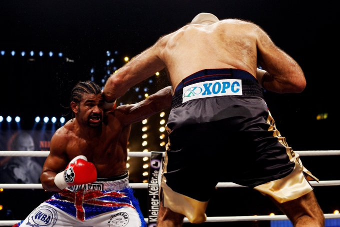 Happy 37th birthday to David Haye, the man who took down the giant