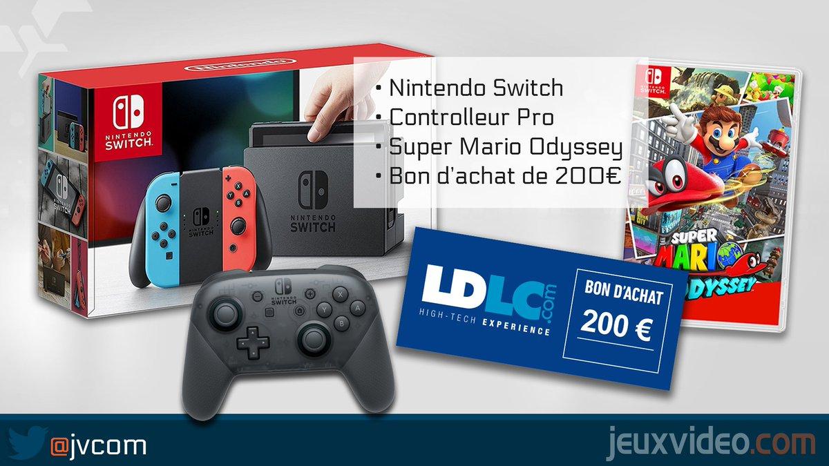 Gros concours 👊  RT + Follow @JVCom + Follow @LDLC pour : 👉 Une SWITCH 👉 Controller Pro 👉 Mario Odyssey 👉 200€ chez LDLC  Fin 27/10 14h