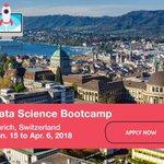 Data Science Bootcamp in Zurich, Switzerland, January 15 – April 6, 2018