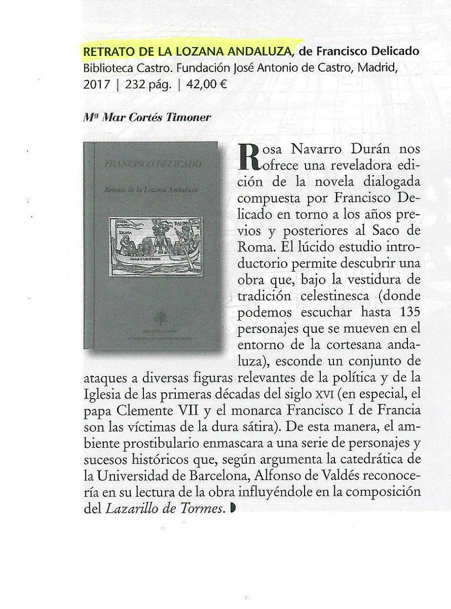 test Twitter Media - La Lozana andaluza: una novela que, bajo la máscara de la tradición celestinesca, esconde ataques a figuras clave del s. XVI En @El_Ciervo96 https://t.co/oDf5W2rUJ2
