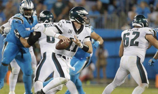 Eagles' Carson Wentz throws three TD passes in 28-23 win over Panthers  https://t.co/04ZByN6hxC https://t.co/Rob9SnpIeg