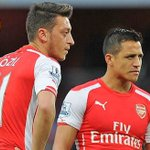 Ozil, Sanchez near Emirates exit