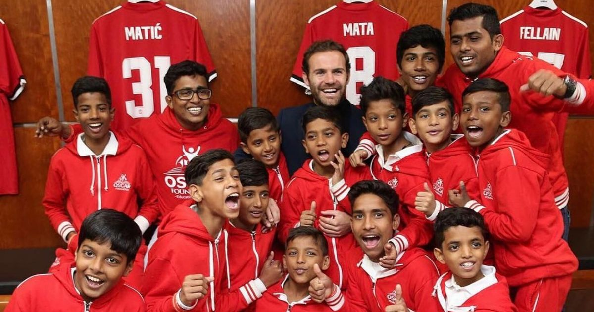 Juan Mata invites youngsters from Mumbai slums to Old Trafford as he prepares for Liverpool clash