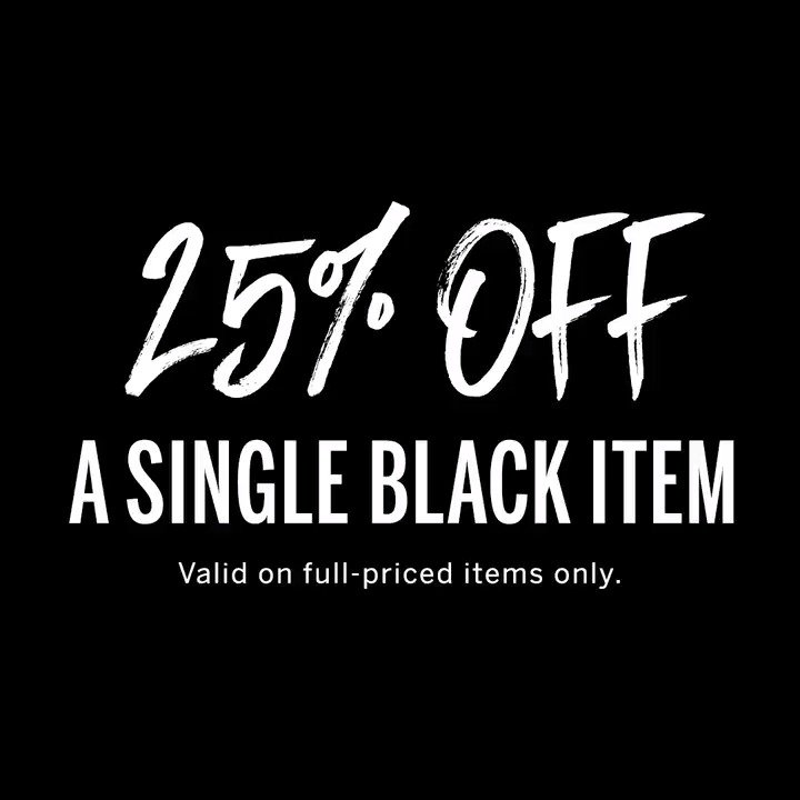 Nothing to fear: take 25% off a single black item! Excl. beauty & clearance. ???????????????? only. https://t.co/tBgi4xt8tx https://t.co/GbqPN6C9uU