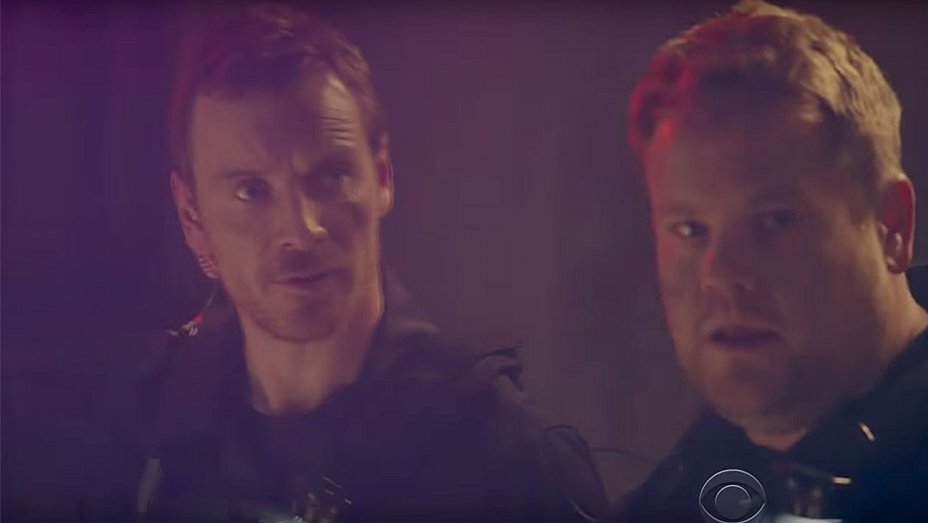 Watch @JKCorden & Michael Fassbender play inept SWAT team members in #LateLateShow sketch https://t.co/CeKyYP7at0 https://t.co/DQcRb1fhiM