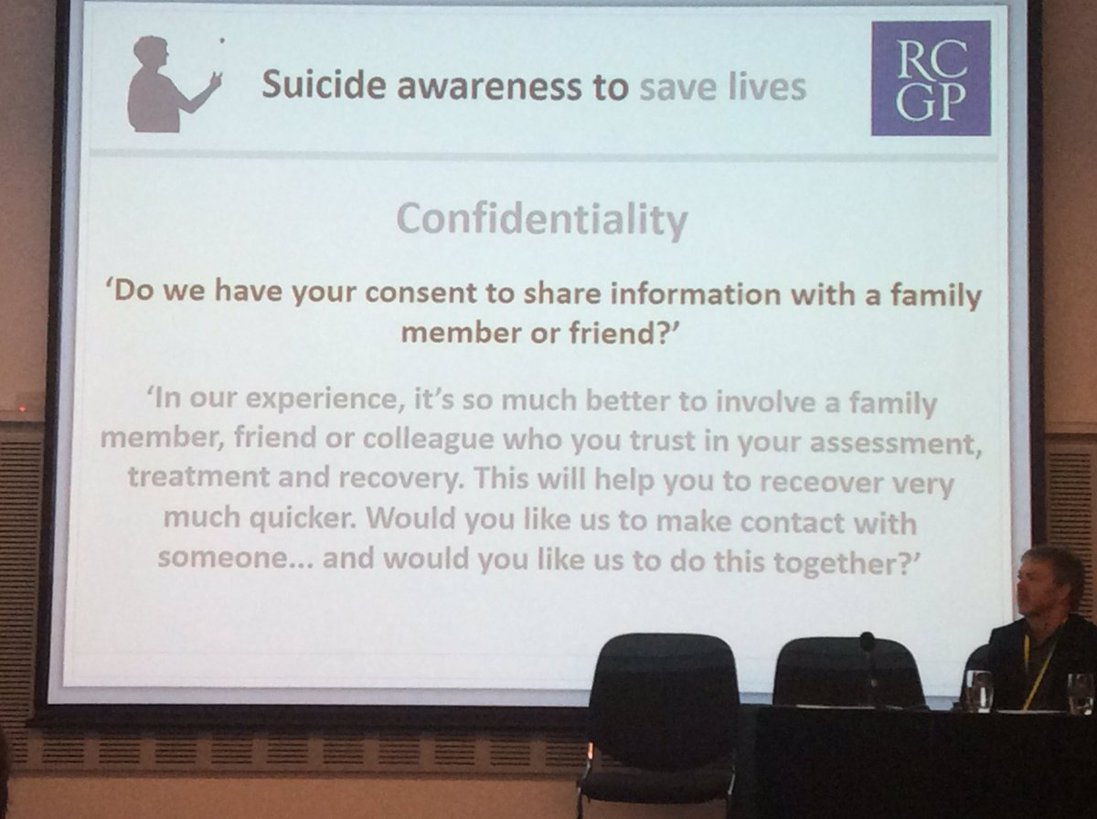 RT @Maureenprsb: @rcgp Key slide from the suicide awareness/prevention session at #rcgpac https://t.co/UPmluOHOj2