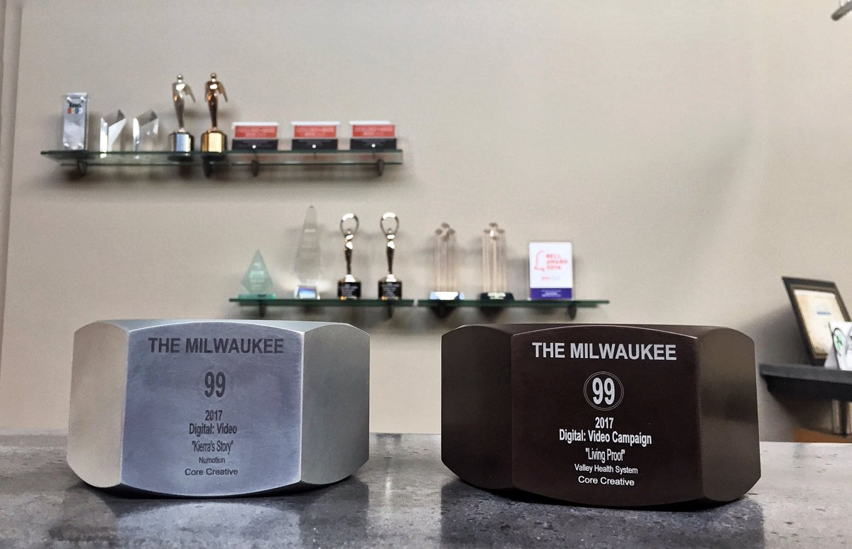 We brought home some sweet new hardware from the @unitedadworkers Milwaukee 99 Awards last night! ⚙️🏆🎉 #mke99 https://t.co/DuiBJTZz7p