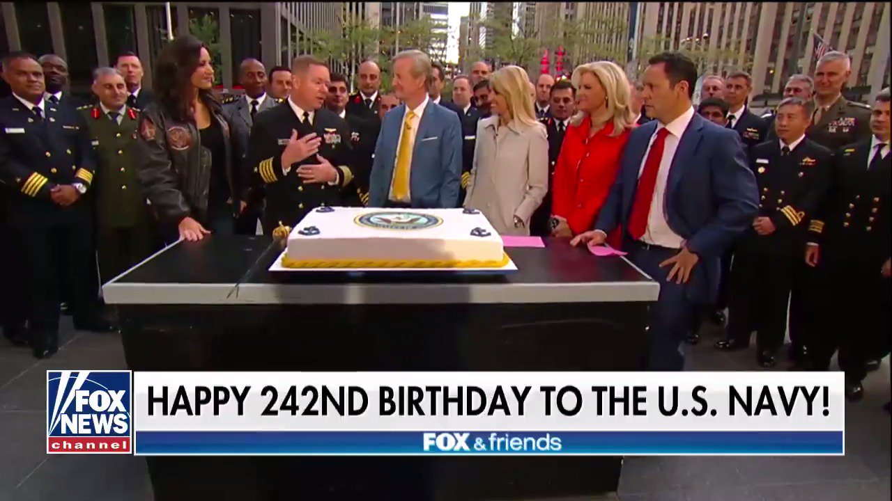 Happy 242nd Birthday to the @USNavy! #242NavyBday @foxandfriends https://t.co/pUlTxnDnJm