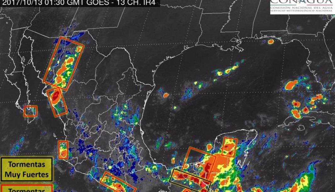 SMN prevé tormentas nocturnas de fuertes a intensas en 16 estados https://t.co/bXN3Go1CZH https://t.co/gSJ9tvuU1b