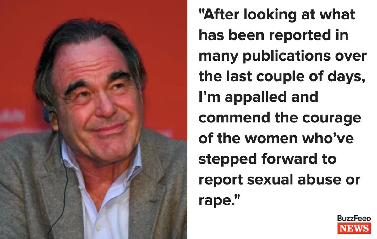 "Oliver Stone has clarified his remarks after saying ""it's not easy"" for Harvey Weinstein https://t.co/t0kAn0M3GG https://t.co/KUOktOc6c8"