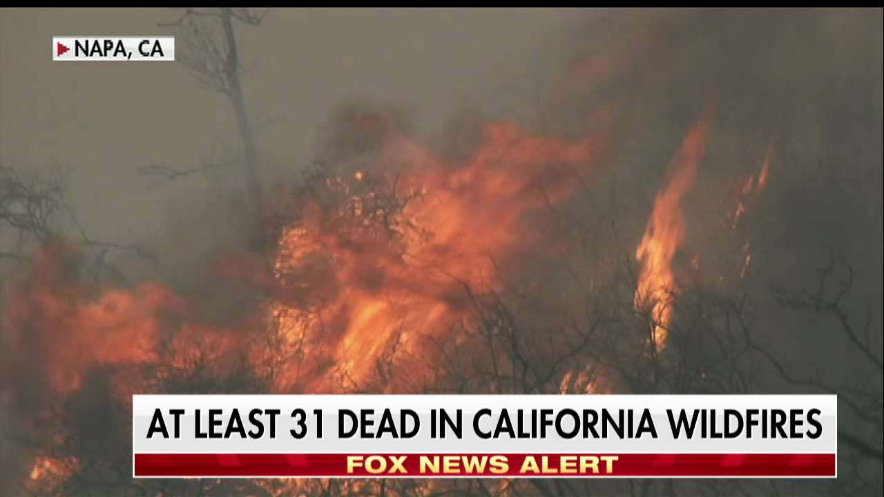 At least 31 dead in California wildfires. https://t.co/FkUO6AeiMj https://t.co/3zZsHc6rem