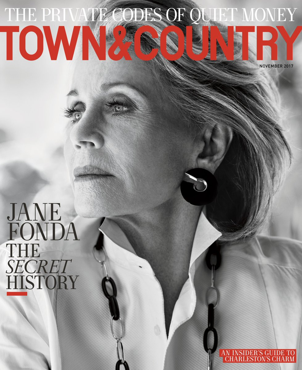Jane Fonda wears a Ralph Lauren Collection tuxedo shirt on the November cover of @TandCmag. https://t.co/Bb8wtWTgAI