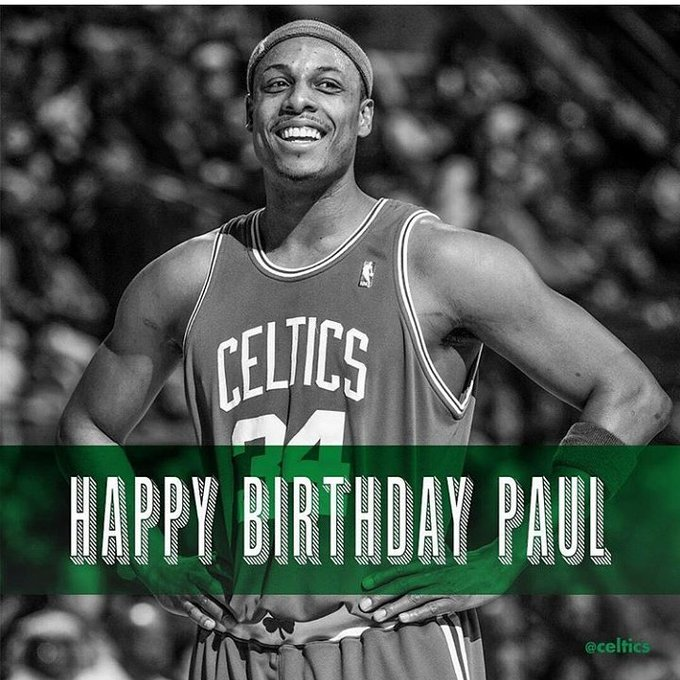 Happy Birthday to a True Celtic Legend Paul Pierce!