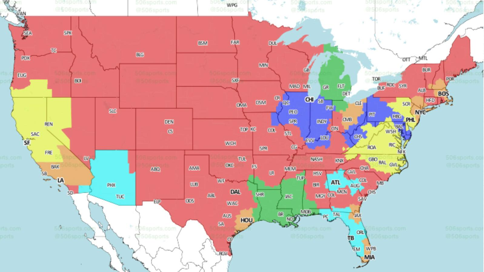 Find out where you can watch #GBvsMIN on Sunday.  TV map ��: https://t.co/edmU4FlDz6   #GoPackGo https://t.co/yLCpYfUCgs