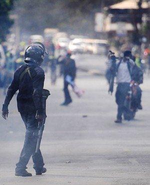 Kenya police use tear gas on opposition protests over vote