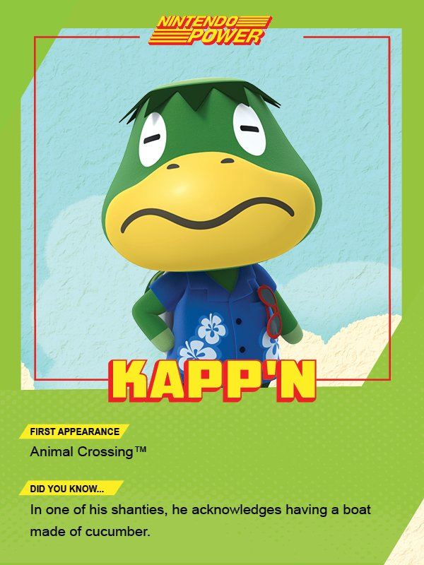 Kapp'n always has a lot to say, so be sure to listen closely. #AnimalCrossing #NintendoPower https://t.co/BQXFwUF8m9