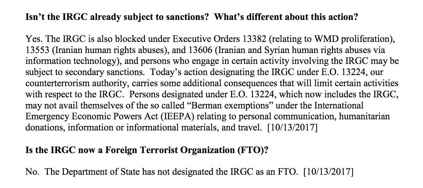 Treasury sanctions IRGC under post-9/11 counterterrorism sanctions  https://t.co/f1390IYecp https://t.co/i7MpCRAHV1