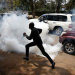 Kenya police use tear gas on protesters ahead of controversial election