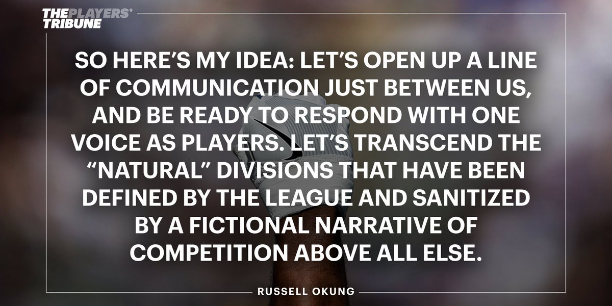 Fellow NFL players   We as pla russell okung