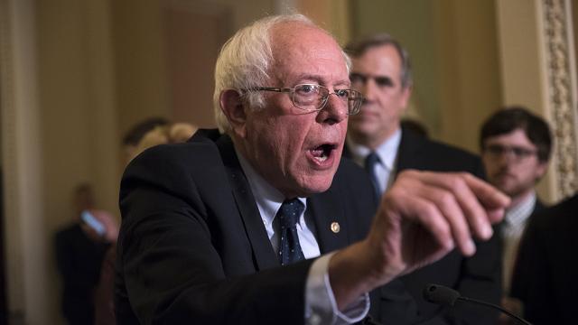 Sanders: Trump's Iran deal announcement was 'just a lot of bluster' https://t.co/2T9LTfTsn1 https://t.co/qiXFRTwk18