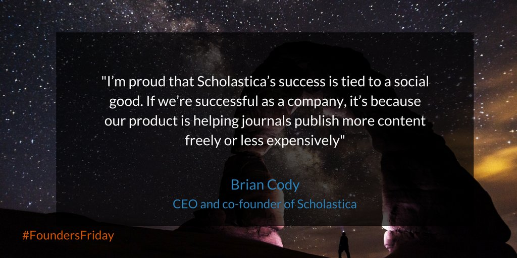 test Twitter Media - Great #FoundersFriday with @scholasticahq CEO and co-founder @briancody! https://t.co/q3ugcJBu6I https://t.co/GUx6bYPqn9