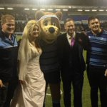 Couple celebrate wedding on pitch at Cardiff Arms Park