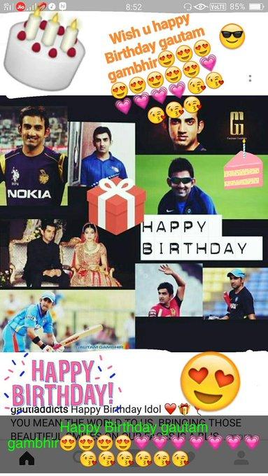 Wish u happy Birthday gautam gambhir
