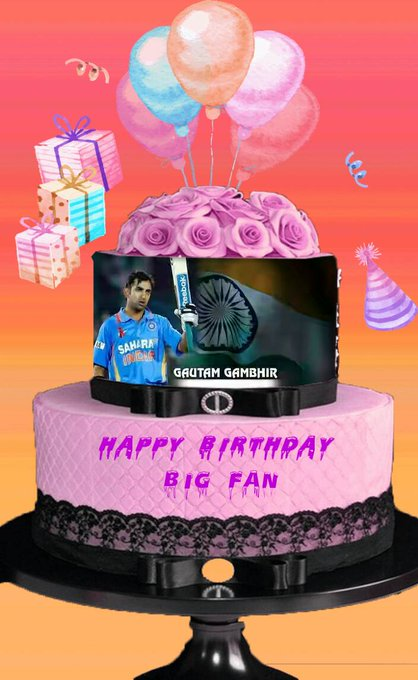 HAPPY BIRTHDAY Mr.Gautam Gambhir Big Fan I Miss You Indian Team