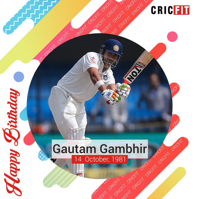 Cricfit Wishes Gautam Gambhir a Very Happy Birthday!